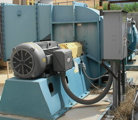 Big industrial fan blower 60 250 horsepower v good used ebay for How much does a blower motor cost